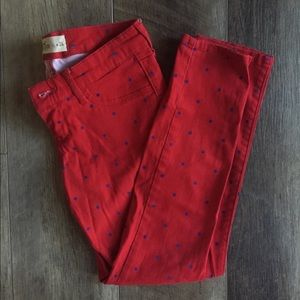 Hollister women's polka dotted skinny jeans